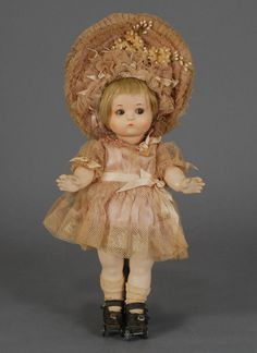 Armand Marseille (1856-1925) — 13'' Bisque Child Doll  'Just Me' (745×1024)