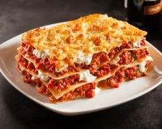 vegetarische lasagne Lasagnes à la bolognaise facile - Lasagne mit leichtem Bolognese - zu # Cottage Cheese Lasagna Recipe, Easy Lasagna Recipe With Ricotta, Classic Lasagna Recipe, Best Lasagna Recipe, Beef Lasagne, Meat Lasagna, Ground Beef Lasagna Recipe, Meat Sauce Recipes, Gastronomia