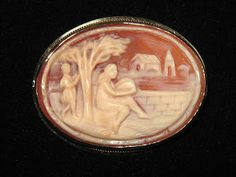 unique carved shell cameo brooch.