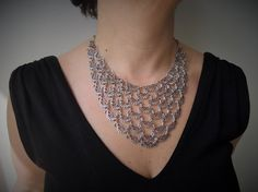 grandma necklace  Bib Necklace  Statement by ellajewelrystore