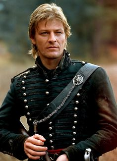 Sean Bean as rifleman Richard Sharpe. Let us reflect that Sharpe may be the only action character portrayed by Sean Bean who has not been killed. The universe may have it out for Sean Bean's characters, but it can't take down rifleman Sharpe. Jane Eyre, Gorgeous Men, Beautiful People, Image Film, Raining Men, British Actors, British Artists, British Men, British Army