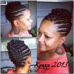 50 Beautiful African American Flat Twist Updo Hairstyles