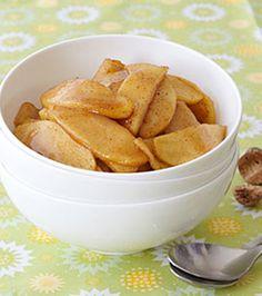 warm cinnamon apples- making this tonight!