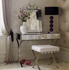 Lovely Gorgeous Vintage Art Deco Peach Glass Vanity Set | Vanity/Dressingtable |  Pinterest | Glass Vanity, Vanities And Vanity Set