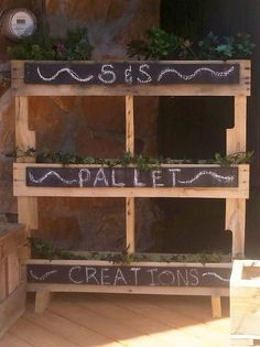 A perfect way to plant your herbs or flowers. Each tier has its own chalkboard for keeping track of what you plant. *For a shipping quote contact us. **All items are one of a kind creations and can va
