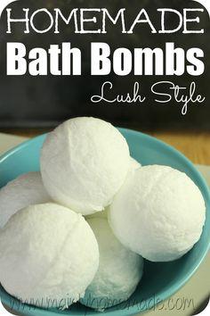 Lush Style homemade bath Bombs