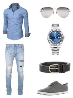 """Bez naslova #4"" by semysemy ❤ liked on Polyvore featuring Doublju, Balmain, Dsquared2, Arider, Linda Farrow Luxe, Rolex, men's fashion and menswear"