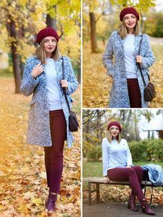 С чем носить бордовый фото на lookagram.ru