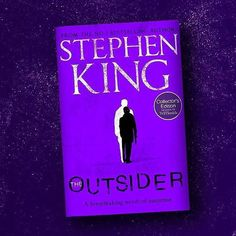 In the UK THE OUTSIDER will too have a purple variant cover available exclusively at @whsmithofficial !