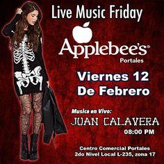 Este viernes tocaremos en @applebeesgt del Centro comercial Portales z17 20:00Hrs #sacudetushuesos