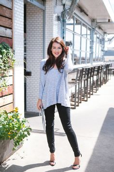 @dallaswardrobe in the Nasty Gal So Far So Good Sweater in Gray (http://www.nastygal.com/product/nasty-gal-so-far-so-good-sweater--grey?utm_source=pinterest&utm_medium=smm&utm_term=ngdib_collab&utm_content=ng_about_town&utm_campaign=pinterest_nastygal) & #NastyGalDenim The Kink in Black Sabbath…