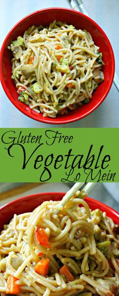 Gluten free vegetable lo mein is perfect for anyone! Easily switch out the broth and add meat to customize anyone's taste! | gluten free recipe | gluten free vegetable lo mein | vegetable lo mein | lo mein recipe | gluten free lo mein recipe | gluten free chinese | gluten free vegetable lo mein |