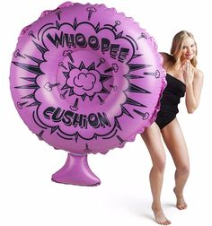 Designed to look exactly like a massive 4 foot wide whoopee cushion floating in the pool, but, unfortunately, it& only for floating around on and doesn& horrendously flatulate when cannonballed onto it. Hmm, maybe that& a good thing. Funny Pool Floats, Cool Pool Floats, Summer Pool, Summer Fun, Summer Vibes, Summer Things, Summer Breeze, Pool Floats For Adults, Pool Rafts