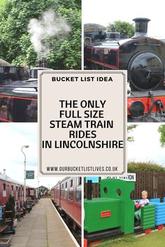 Steam train rides in Lincolnshire. Where to ride on a steam train in Lincolnshire. Ludborough train station. Day out kids, family friendly #ludborough #steamtrain #dayout #familyfriendly #family #familytravel #travel
