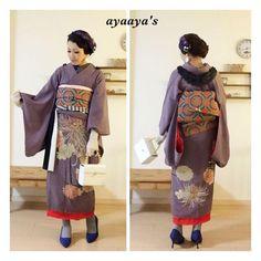 大阪着物着付け教室 ayaaya's (アヤアヤズ) のブログです。大阪 淀川区阪急三国駅が最寄り駅の自宅教室にて、着物着付け教室を行っております。現在募集中… Mori Girl Fashion, Kimono Fashion, Kimono Outfit, Kimono Top, Traditional Japanese Kimono, Modern Kimono, Kimono Japan, Special Dresses, Japanese Fashion