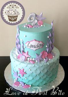 Cake nature fast and easy - Clean Eating Snacks Little Mermaid Cakes, Mermaid Birthday Cakes, Little Mermaid Parties, Sirenita Cake, Sea Cakes, Cute Cakes, Creative Cakes, Shower Cakes, Cake Designs