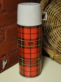 Vintage Plaid 60s Thermos by EclecticCottageShop on Etsy, $14.00