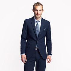 Ludlow suit jacket with double vent in Japanese seersucker