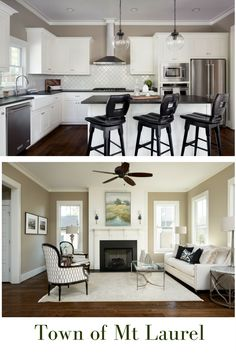 Craftsman details meets modern finishes, that's what you'll find in the Redbud Cottage in the Town of Mt Laurel.