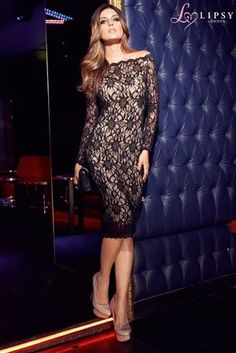 Buy Lipsy Off Shoulder Lace Dress from the Next UK online shop