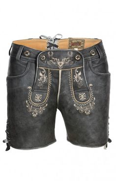Traditional Trachten LEATHER SHORTS Jane antique