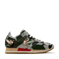 Damen Sneaker Tropez Bright Birds Olive Tropical Birds, Beautiful Shoes, Leather Sneakers, Designer, Sporty, Footwear, Pure Products, Heels, Model