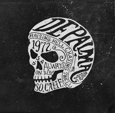 BMD Design is a graphic design studio located in Bordeaux that excels in hand lettering. Japanese Artwork, Skull Logo, Famous Logos, Triangle Tattoos, Hand Type, Metal Artwork, Design Graphique, Skull And Bones, Logo Design Inspiration