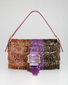 So much party in such a small bag; disco is far from dead. Women's Beaded Fringe Baguette by Fendi via Neiman Marcus