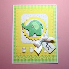 Welcome baby card:)