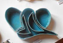 Five interlocking slab built ceramic pieces. Spoon Rest, Serving Bowls, Plates, Ceramics, Tableware, Mary, Licence Plates, Ceramica, Dishes