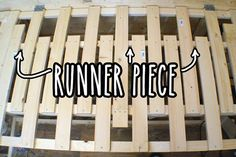 Extending slats with runner piece