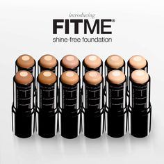 Maybelline FITME new stick foundation with a fine powder core - really, really matte but feels light. Sept 2013.