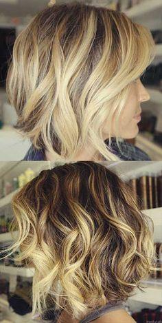 Balayages Mèches et Ombre Hair sur Cheveux Mi-longs | Coiffure simple et facile
