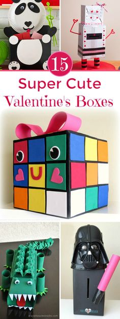 Valentine's Day Craft - These Valentine's Day Boxes are super cute and perfect for holding all those Valentine's Day cards. It's a fun craft for kids and they'll love making these super cute Valentine boxes Easy Valentines Day Boxes, Easy Valentine Crafts, Teacher Valentine, Valentines For Kids, Valentine Ideas, Diy Valentine's Box, Fun Crafts For Kids, Valentine's Day Diy, Pencil Sharpener