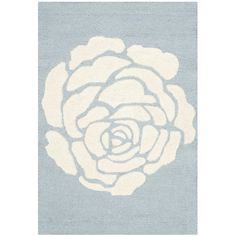 Varick Gallery Martins Blue / Ivory Area Rug Rug Size: 3' x 5'
