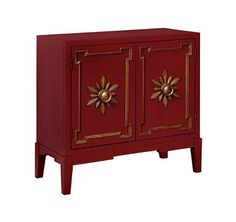 red furniture, red chest, red and gold, Furniture of America Aya Double Door Accent Chest in Red Oriental Furniture, Fine Furniture, Accent Furniture, Gold Furniture, Studio Furniture, Painting Furniture, Upholstered Dining Chairs, Dining Chair Set, South Shore Decorating
