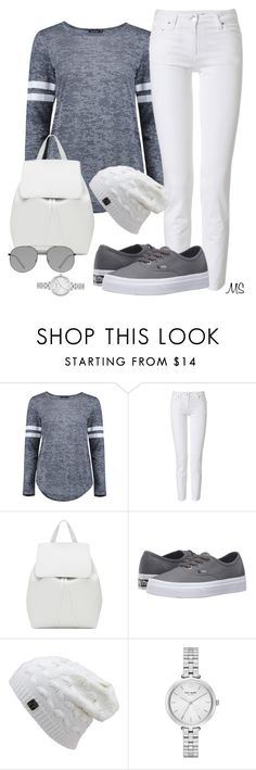 """""""Beanie Babe"""" by michellesherrill ❤ liked on Polyvore featuring Boohoo, Roberto Cavalli, Mansur Gavriel, Vans, Kate Spade and Elizabeth and James"""