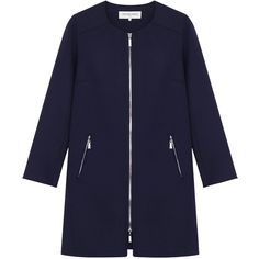 Gerard Darel Madison Coat (£188) ❤ liked on Polyvore featuring outerwear, coats, jackets, coats & jackets, casacos, long sleeve coat, print coat, gérard darel, blue coat and gerard darel coat