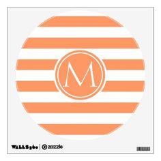 Striped Trendy Monogram Wall Sticker