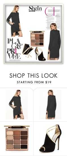 """""""You are filling a template. You can only add items in the designated placeholders. Enter contest Save Draft Open New Start over  WomenMenHomeMy ItemsCollectionsContestBags×Shoes×Jewelry×Beauty× Win a super cool Sweatshirt Dress with Shein"""" by ruth-03 ❤ liked on Polyvore featuring Stila and Jimmy Choo"""