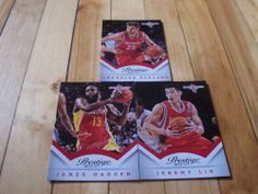 Jeremy Lin Chandler Parsons James Harden 2013 14 Prestige Houston Rockets Lot   eBay