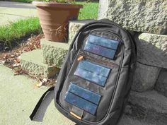 DIY Solar Backpack - easy inexpensive way to re-charge electronics while you walk - could shift how people charge their devices in countries & situations with little or no access to electricity