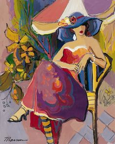 isaac maimon | Jasmine by Isaac Maimon - Hand Embellished Serigraph on Canvas ...