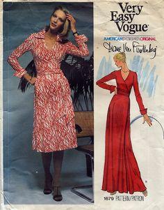 Vintage Diane Von Furstenberg Wrap Dress Pattern - Vogue 1679