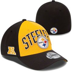 8bc441f03 Pittsburgh Steelers New Era 2013 NFL Draft 39THIRTY Black   Yellow Stretch  Fit Hat Steelers Gear