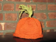 Knitted Baby Carrot Hat