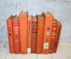 vintage orange book collection