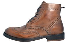 The upper of these Hudson Anderson mens premium leather boots are crafted from quality leather materials. The pin hole brogue design is inspired by formal shoes from the previous century, providing class and sophistication to your footwear. | eBay!