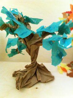 Fairy Dust Teaching Kindergarten Blog: 3-D Trees - The Four Seasons (Part 2)
