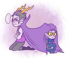 Dualscar and Eridan, I couldn't help it this picture is too cute! I want an Eridan.<<wtf